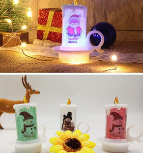 Christmas LED Candle PVC Night Lights Portable Flameless Candle Table Decoration Merry Christmas Candle Desktop Decoration DDA1829