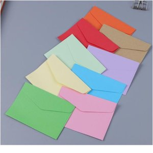 100pcs lot Candy Kraft Paper 14 Colors Blank Envelopes Bank Card Envelopes Greeting Cards Mini Envelopes Members jllpDl