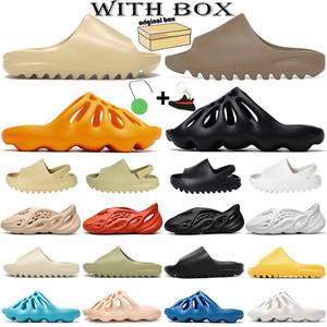 kanye west yeezy yezzy yezzys Kanye West sandalias para hombres, mujeres, niños, zapatillas, plataforma, corredor de espuma, verano, exterior, casa, zapatillas de deporte con caja