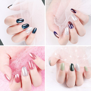 30pcs Full Cover UV Gel Glitter False Nail Artificial Tips for Decorated Design Press On Nails Art Fake Extension Tips F662