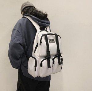 Man Backpack Large Capacity High School College Student Backpack Girls Travel Bag Multiple Pockets Lovers Bag