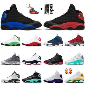 Nike Air Jordan 13 Retro 13 13s Верхнее качество 2020 Stock Jumpman х женщин Mens Basketball обувь 13s Hyper Royal 13 Bred SatinИорданияРетро Флинт Чикаго Мужские Кроссовки