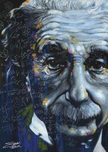 Albert Einstein Onun All Bağıl Stephen Fishwick Ev Dekorasyon Yağ Tuval Wall Art Canvas Pictures 201002 On Boyama