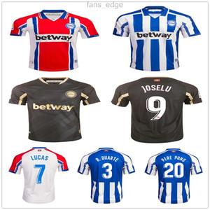 2020 2021 Deportivo Alaves Jersey de football Lucas Pere Pons Joselu Ibai Burgui Laguardia Borga Guidretti Custom Alavés Chemise de football pour enfants adulte