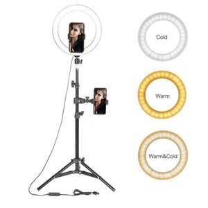 "10"" LED Ring Light Photographic Selfie Ring Lighting with Stand for Smartphone Youtube Makeup Video Studio Tripod Ring Light C1002"