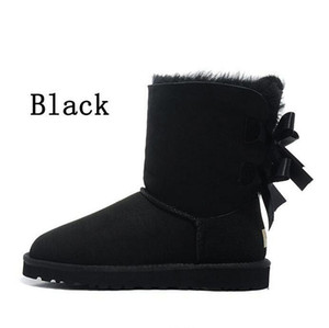 2020 Cold Winter Snow Boots Bow Quality Women Boots booties Classic Short Boot womens snow winter boots size 5-10