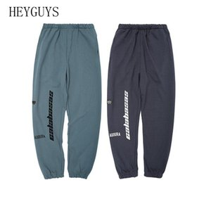 HEYGUYS Cargo Kanye West Season6 CALABASAS Pants Men Hip Hop Fashion Loose Cotton Beam Striped Streak Oversize Sweatpants Men 201112