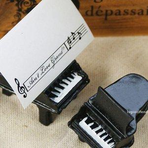 Fiesta de la boda 100pcs favor de partido Piano Piano Asiento Clip portatarjetas del lugar de la tabla Nombre de boda tarjeta del clip soporte de la tarjeta del asiento del asiento del piano Clip