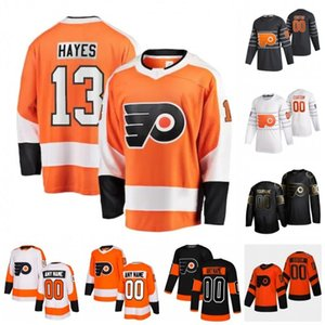 Coutume Flyers de Philadelphie Kevin Hayes Matt Niskanen Michael Raffl Michal Neuvirth Morgan Nate Thompson Givre 2020 Hockey Jersey Cousu