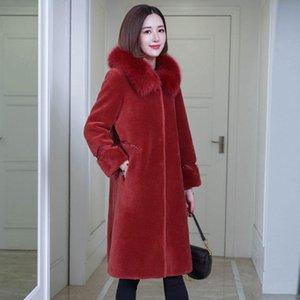 WYWAN Kadın parçacık koyun kesme ceket orta boy 2020 yeni kürk kompozit kürk