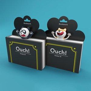 1pcs mignon et Panda Shiba Inu Pvc Favoris 3d drôle School Book Marker stéréo Cartoon animaux Fournitures qylCjp network2010