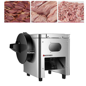 850 W Affettatrice a base di carne commerciale Acciaio inossidabile Automatic Shredder Slicer Dicing Machine elettrico multi-funzione taglierina verdure1