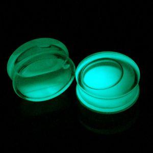 Pair Ear Plug Piercings Glow In Dark Acrylic Earring Gauges Liquid Tunnel Flesh Expander Plugs And Tunnels Body Piercing Jewelry Q jllVuX