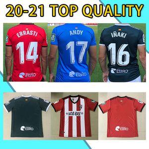 20-21 Tailândia Ud Logroñés Qualidade Jerseys de Futebol Andy Inaki errasti Zelu Vitória 2020 2021 Logrones Camisetas de Fútbol Camisas de futebol