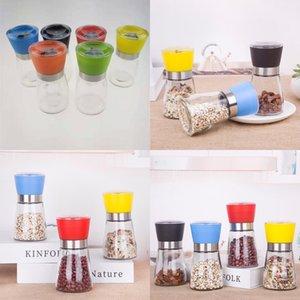 Plastic Glass Bottles Manual Red Black Blue Pepper Grinder Kitchen Supplies Fine Cap Sichuan Peppers Grinder 3 2ch L1