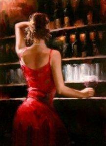 On Cavas Wall Art Canvas Resimler 201.013 Boyama Seksi Bar Kız Ev Dekorasyonu Handpainted HD Baskı Yağ