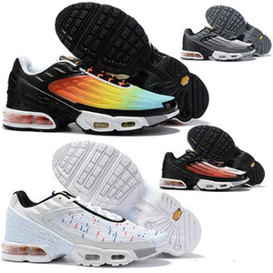 2020 Plus III 3 TN Mens Designer TUNED Airings Running Shoes Classic Outdoor tn Black White Sport Shock Sneakers Requin Blue Spider 40-45