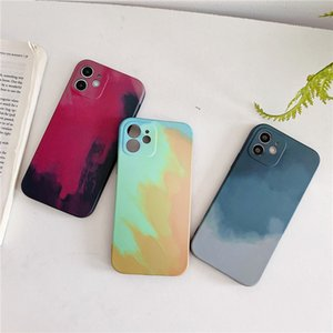 Watercolor Painting Case For iphone 12 MINI 11 Pro Max X XS MAX XR SE2 8 7 Plus Cases Backed Cover 50pcs