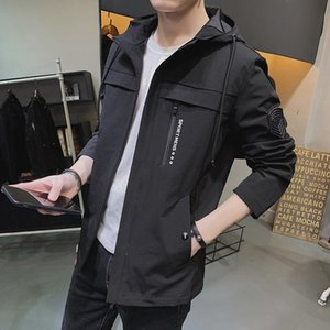 brand mens jackets and coats 2020 new spring and autumn hooded jacket for men fashion trend wild tooling jacket male