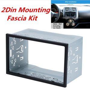Metal 2Din Car Radio Frame Fascia Dash Panel for DVD Player Stereo Mount Trim