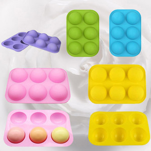 Fast Shipping Chocolate Molds Silicone for Baking Semi Sphere Silicone Molds Baking Mold for Making Kitchen Bomb Cake Jelly Baking Moulds