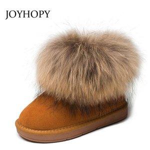 Crianças botas meninas meninos sapatos grossos quentes de couro genuíno crianças sapatos de neve moda real criança criança criança botas inverno botas y200104