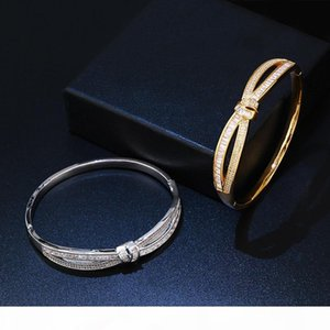 Bowknot Fashion Trend Bangle Creative Zircon Exaggeration Women Personality Bracelet Fine Party Jewelry Girl's Gift