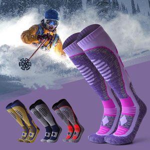 Sports Socks Women Men Winter Warm Ski Snow Thermal Long Walking Hiking Towel Merino Cotton Kids Durable