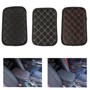 Leather Car Armrest Pad Covers Universal Center Console Auto Seat Armrests Box Pads Black Armrest Storage Protection Cushion1
