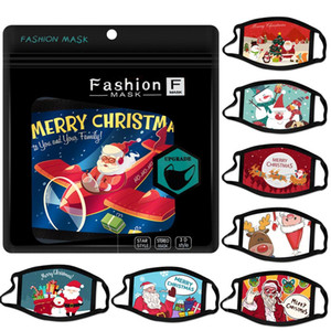 Christmas face mask cartoon design face masks santa gift snowman mask dust haze fashion adult fashion men women facemask