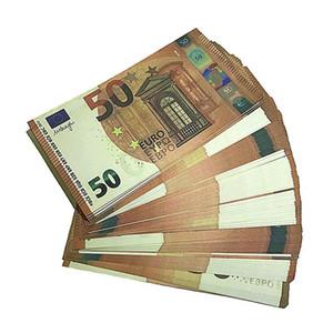100 teile / paket EUR Fake Geldwährung 20 100 Euro BH PRPP MOION MONEY FAUX BILLET PLAY FALSCHFEIGEN EUROS J9