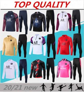 2020 2021 Paris Fußballtrainingsanzug Mbappe Langarm-Sweatshirt 20/21 maillot de foot DI MARIA VERRATT Fußball Jogging Jacke Trainingsanzug