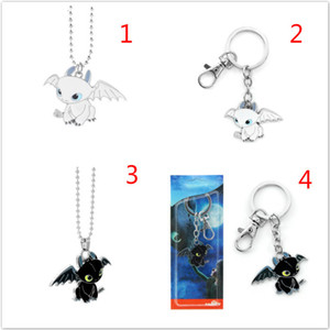 How to Train Your Dragon Toys Figures Keychain New Fashion Cute Toothless Necklace Pendant Keyring Kids Jewelry Party Favor