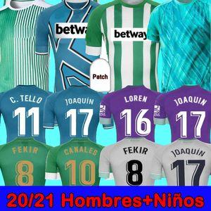 2021 20 21 Real Betis Soccer Jersey Jersequin Loren Boudebouz Bartra Home Away Suit Canales Mourmorative Edition Fekir 2022 Мужчины Детские майки