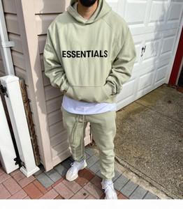 Fog Fean Of Bog Bog Essentials SS20 Pullover Hoodie 3D Closeique Applique Front Logo Flece Hoodie Curry Oversize Толстовка Hip Hop Streetwear