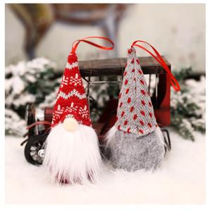 Новогодние украшения Вязаные шерсти лес Человек Кукла Шарм Безликие куклы украшения рождественской елки Подвеска прохладно и популярный стиль