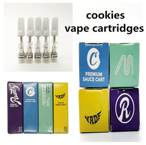 Cookies Vape Cartridge Packaging 0.8ml 1.0ml Ceramic Coil Carts for 510 Thread Cartridge Battery Vapes Empty Thick Oil Atomizers