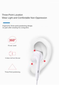 Wired headset hands-free in-ear headset with microphone volume control 3.5 mm, suitable for S7 S8 S6 Edge Note 4 Edge with LOGO