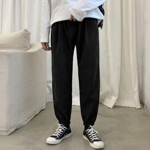Fashion-Black Men Harem Pants Japanese Style Plus Size Hip Hop Men's Trousers Casual Streetwear Joggers for Males Drawstring Sweatpants
