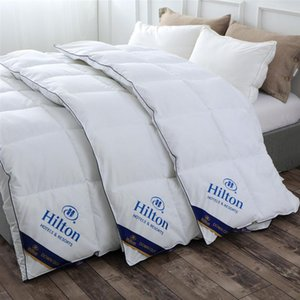 Hilton Hotel Down Quilt with Double Dummy Fabric Spring, Autumn and Winter Gift Quilt with Warm and Comfortable Winter