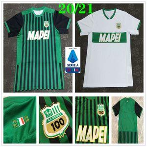 2020 2021 Сассуоло футбол Джерси 9 CAPUTO 25 BERARDI LOCATELLI MARLON Пользовательские Away Home Черный Белый Sassuolo Calcio SRL Футбол Рубашка