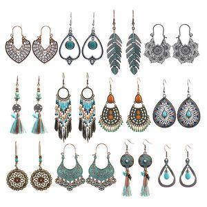 Moda Boho orecchini per le donne ragazze bohémien vintage drop dangle orecchini dichiarazioni orecchini stile nazionale in lega di stile nazionale 31 G2