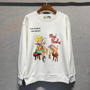 high quality embroidery Lamb Hoodie mens Sweatshirts Long Sleeve Shirts Hoodies Autumn Spring women fashion clothing Printed letter Sweater