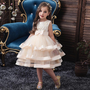Girls Princess Kids Dresses for Girls Tutu Ball Gown Baby Clothes Children Wedding Birthday Party Dress Wear Dress A-Line