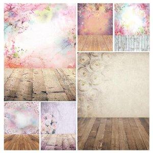 Photographique fond coloré Fleurs colorées Bokeh Vinyl Studio De toilette Photobooth pour enfants Lovers de bébé Photocall Fond Photo1