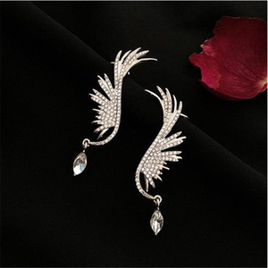 New 2020 Full Diamond Tassel Earrings women's High Quality Exaggerated Square Earrings Fashion Women's Earrings In Europe And America