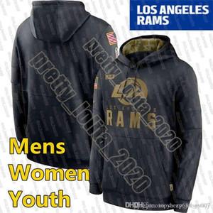 Лос-АнджелесБаранМужская толстовка 2020 Салют для обслуживания Услуги SiCline Performance Pullover Hoodie Чернокожие Женщины Молодежные Футбольные Твести