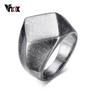 Vnox Punk Chunky piatto Rhombus Top Thumb Ring per gli uomini fraterna dell'acciaio inossidabile della fascia Retro vichingo Maschio Gioielli Roccia Hiphop Bijoux