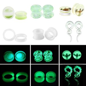 2pcs Glow In The Dark Sile Ear Plugs And Tunnels Piercing Expander Piercing Tunnel Ear Tunnels Stretchers Plug Ear Gauges Q bbygWN