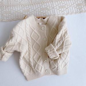 Primavera Outono Malha Cardigan Sweater Estilo Coreano Cardigan Camisola Cardigan Casual Crianças Desgaste Bebé Roupas Inverno